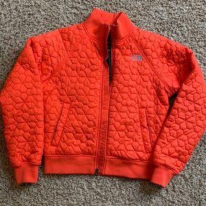 Orange North Face Puffer Jacket